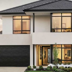 A Grade Garage Doors Perth | Shutters & Gates - Elegant black garage door in Perth, WA